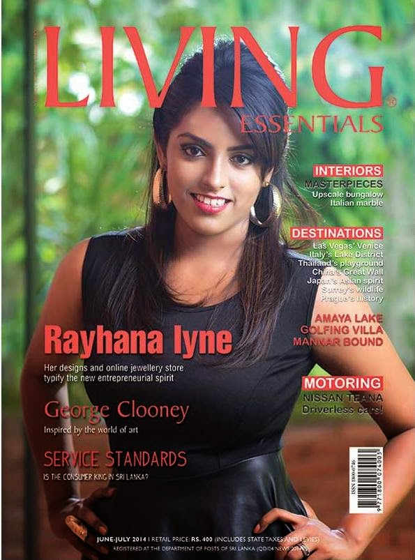 LIVING MAGAZINE COVER SHOOT - RAYHANA IYNE
