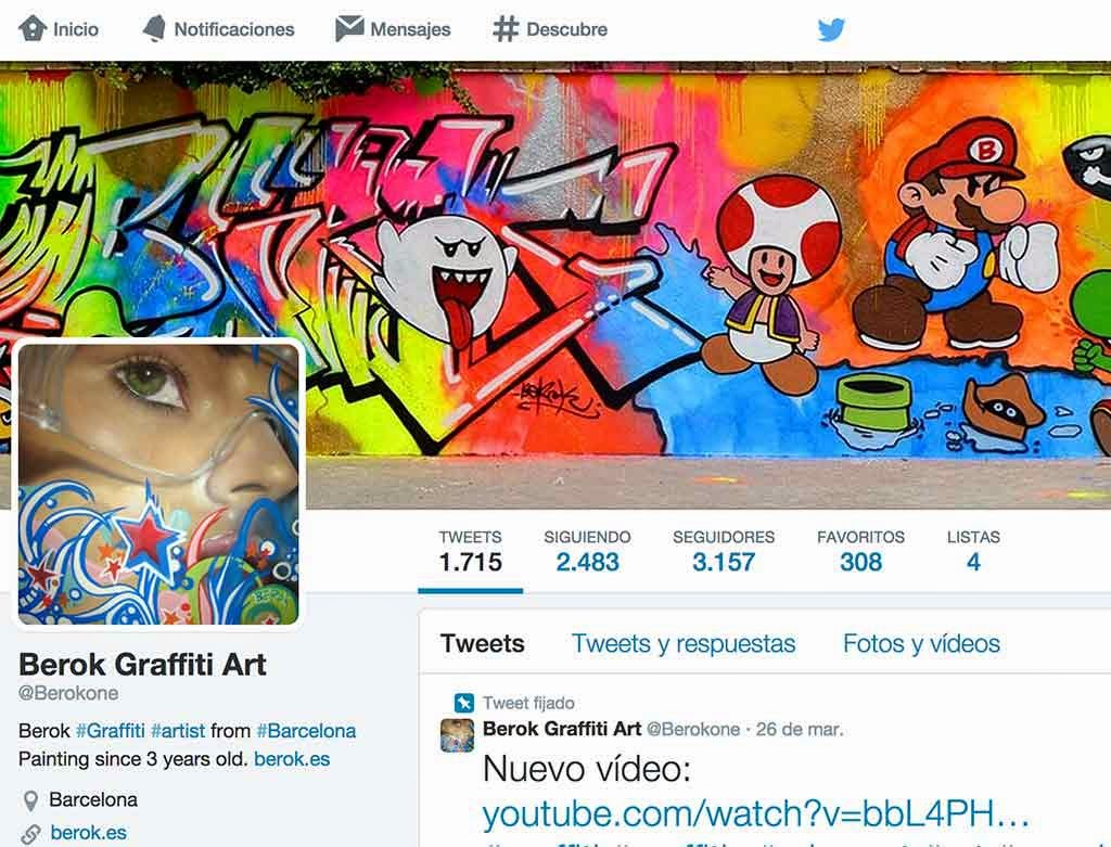 Grafitero español en twitter