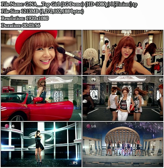 Download MV G.NA - Top Girl (LG 2D Demo Bluray Full HD 1080p)