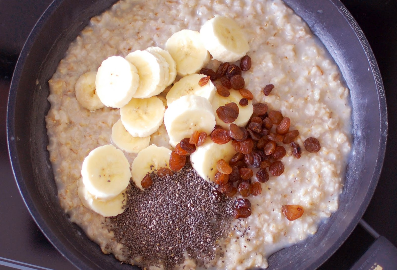 Oats Raisins Chia Seeds Banana