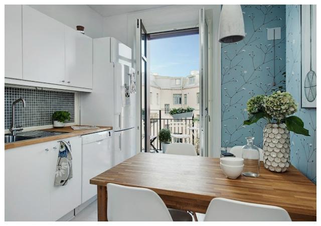 Decoraci n f cil cocinas con papel pintado for Papel pintado para cocinas lavable