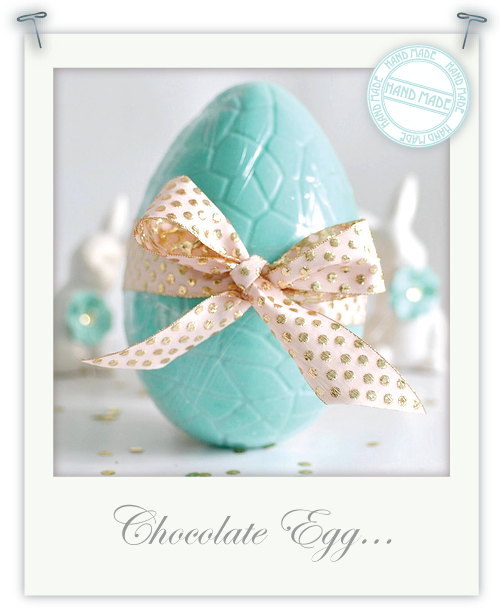 Hand-made chocolate egg by Torie Jayne
