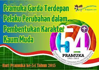 Tema hari Pramuka ke-54 Tahun 2015