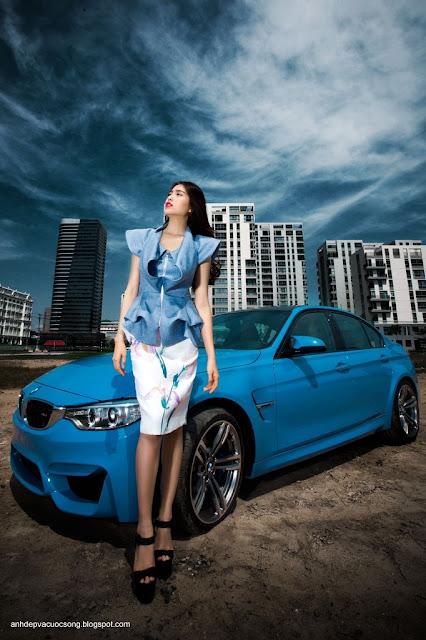Người đẹp Lệ Hằng gợi cảm cùng BMW M3 2015 4