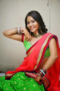 Actress Mithra half saree Pictures 014.jpg