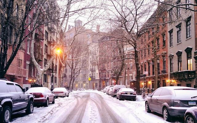 Nieve en las Calles de New York
