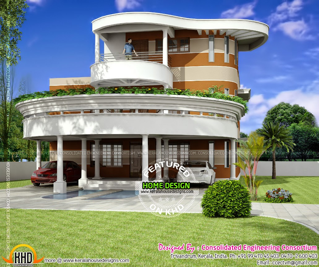 side view elevation unique house - Unique House Plans