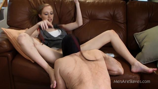 Licking goddess pussy worship slave whip