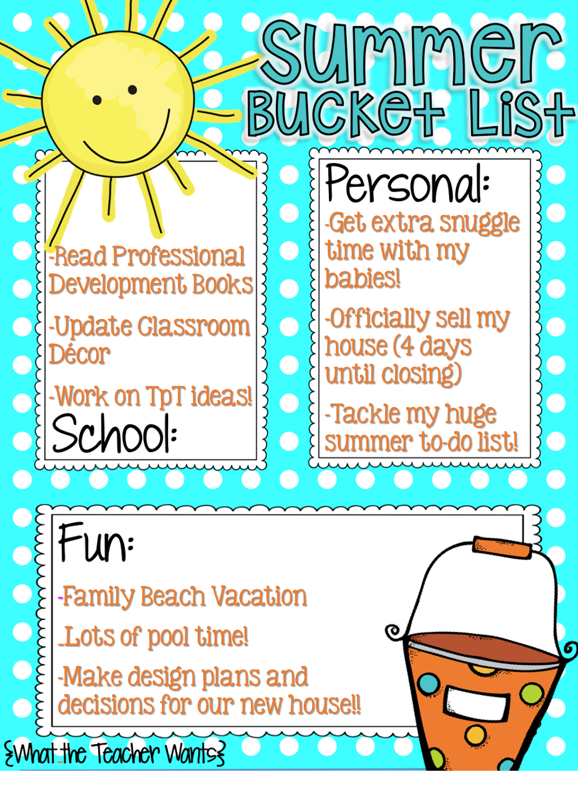 crazy for first grade summer bucket list lots of goals and must do things have already been checked off my bucket list but 6 more weeks to go i still have many more things i want to