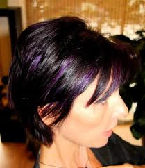 black hair styles black hair purple highlights