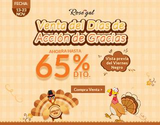 Acción de Gracias en Rosegal