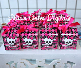 Caixa tema monster high