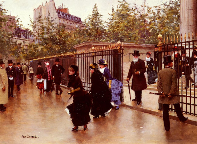 """Jean Béraud Sortant De La Madeleine, Paris"" by Jean Béraud - Own work. Licensed under Public Domain via Wikimedia Commons - https://commons.wikimedia.org/wiki/File:Jean_B%C3%A9raud_Sortant_De_La_Madeleine,_Paris.jpg#/media/File:Jean_B%C3%A9raud_Sortant_De_La_Madeleine,_Paris.jpg"