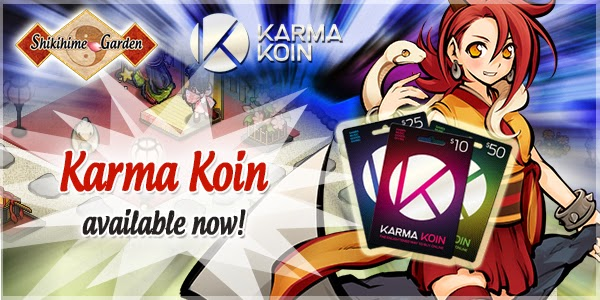 Appirits added Karma Koin payment to its English game title Shikihime Garden