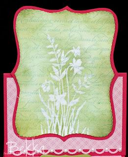 Just Beleive Emboss Resist Card