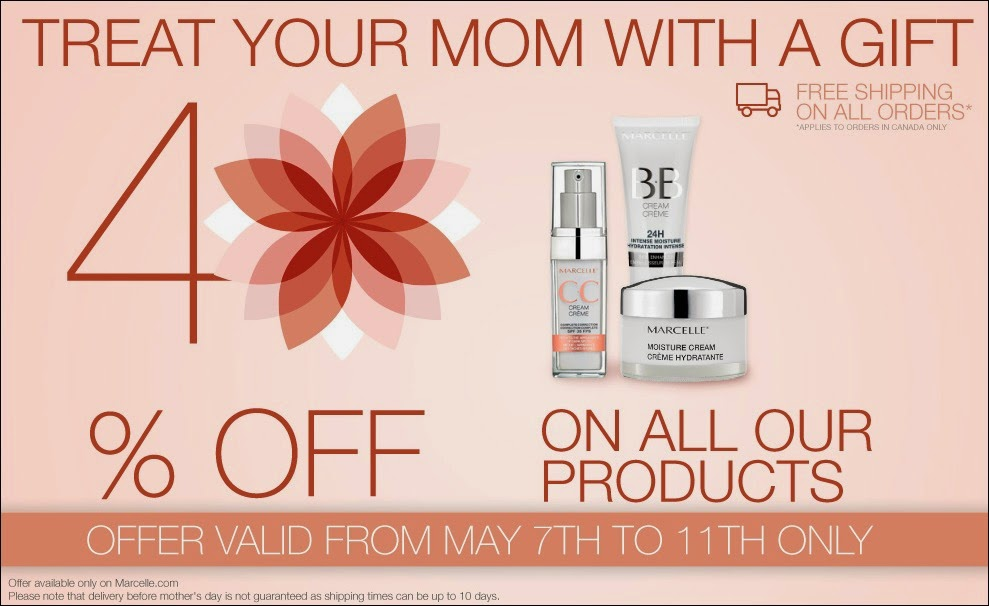 40% Off Marcelle TODAY till May 11
