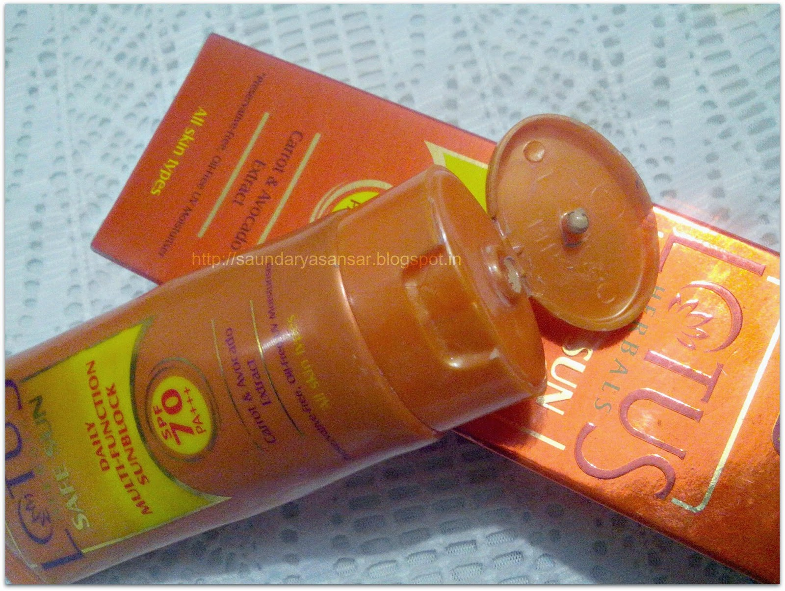 LOTUS Safe Sun- Daily Multifunction Sunblock- spf 70 PA+++ Review