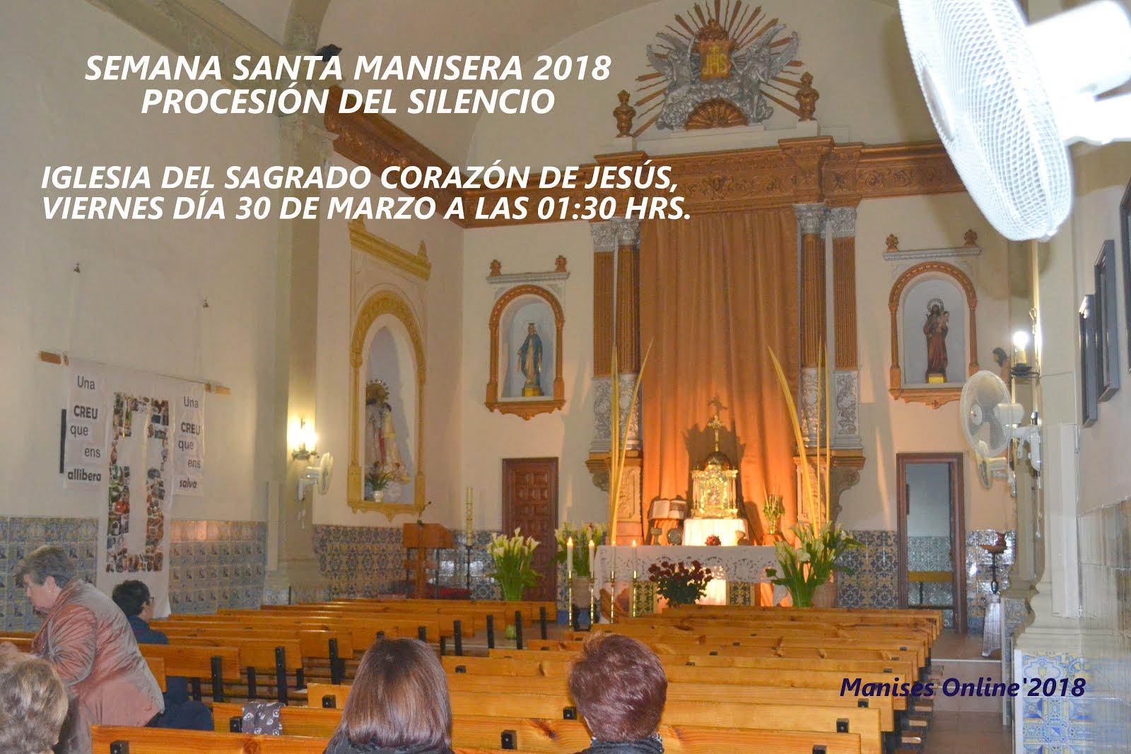 30.03.18 SEMANA SANTA MANISERA 2018: PROCESIÓN DEL SILENCIO, VIERNES SANTO