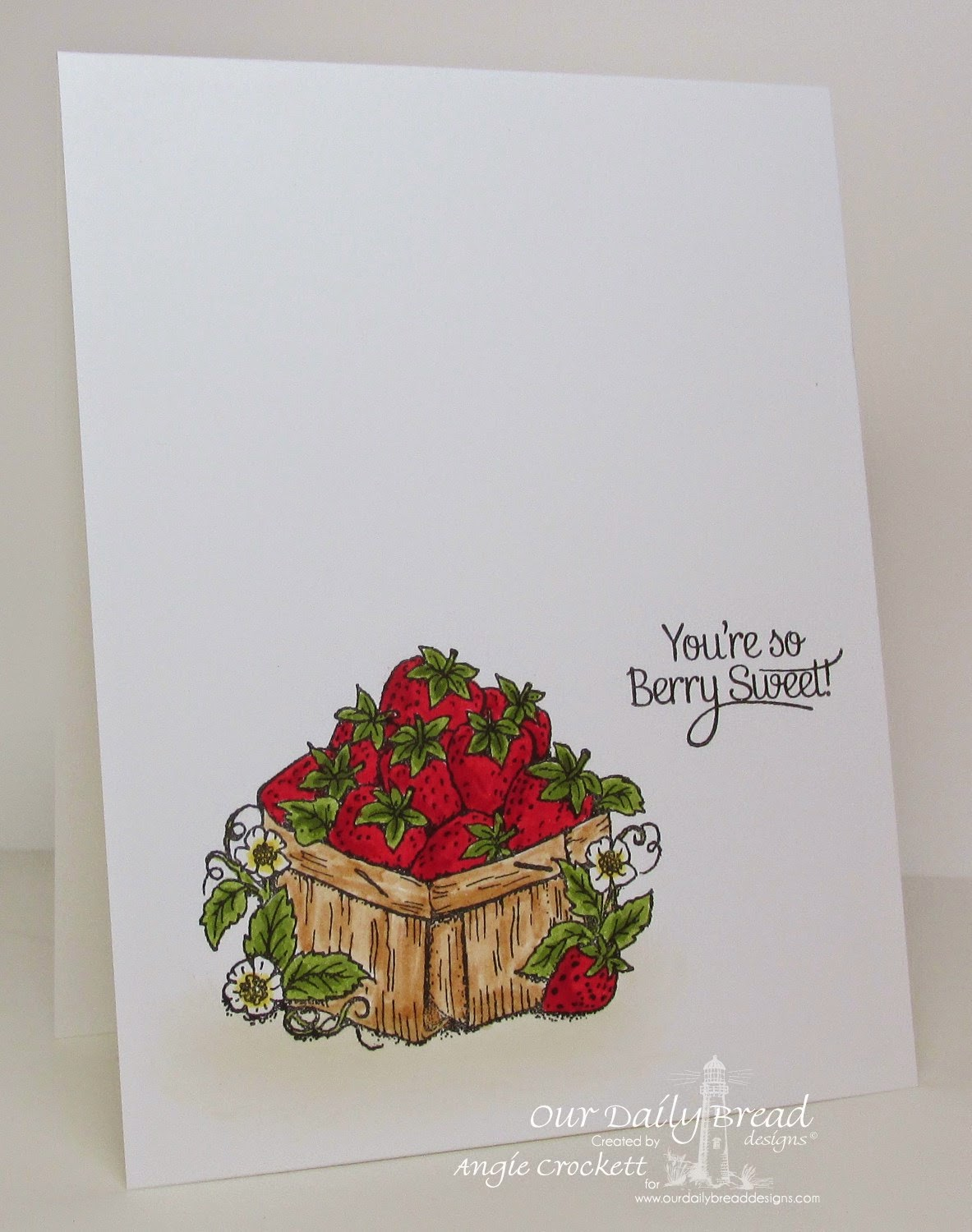 ODBD Strawberries, Card Designer Angie Crockett