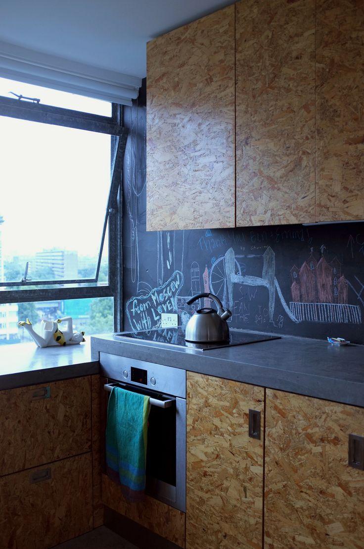 Kuchnia z OSB. Fronty kuchenne z OSB - inspiracje.
