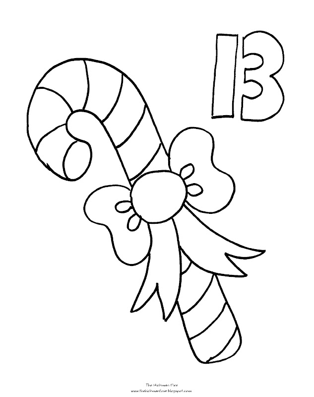 Coloring Pages: Countdown to Christmas Part Three title=