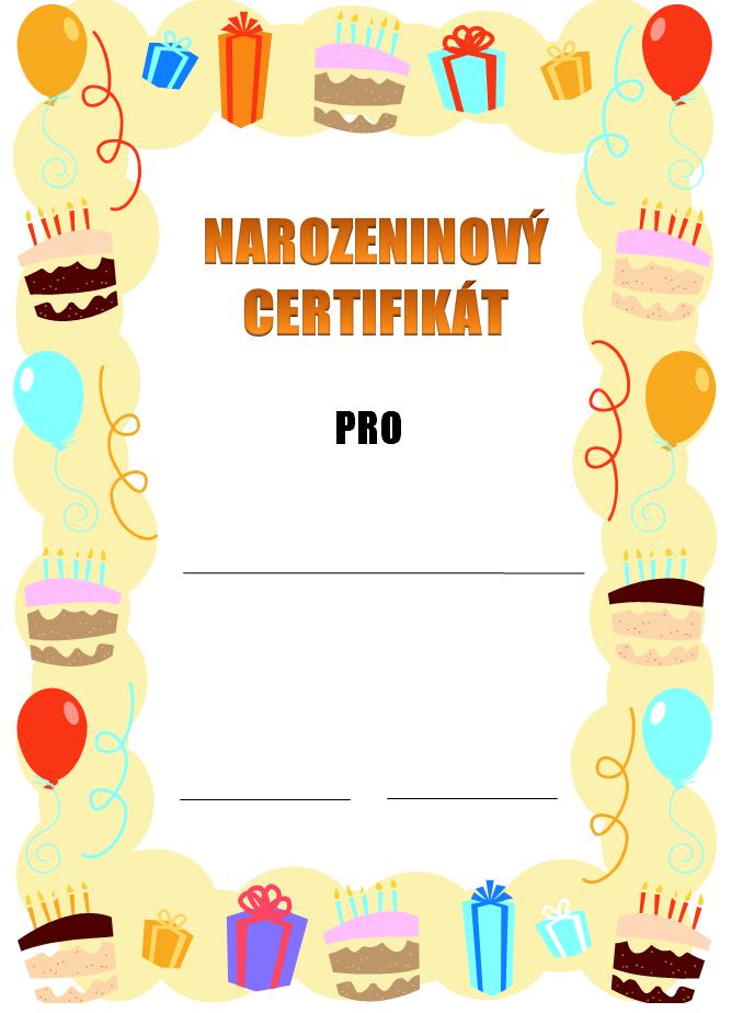 Narozeninový certifikát