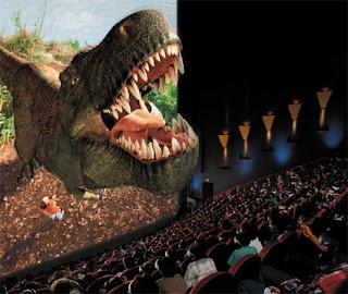 Imagen de una película de dinosaurios en 3D