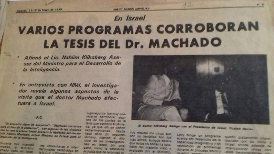 29 - Periódico Nuevo Mundo Israelita, Caracas, 18/05/1979.
