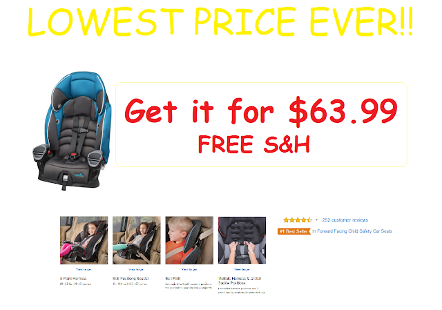 Get the Evenflo Maestro Booster Car Seat for only $63.99 SHIPPED! (LOWEST PRICE EVER!)