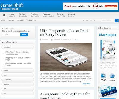 GameShift Responsive Blogger Template