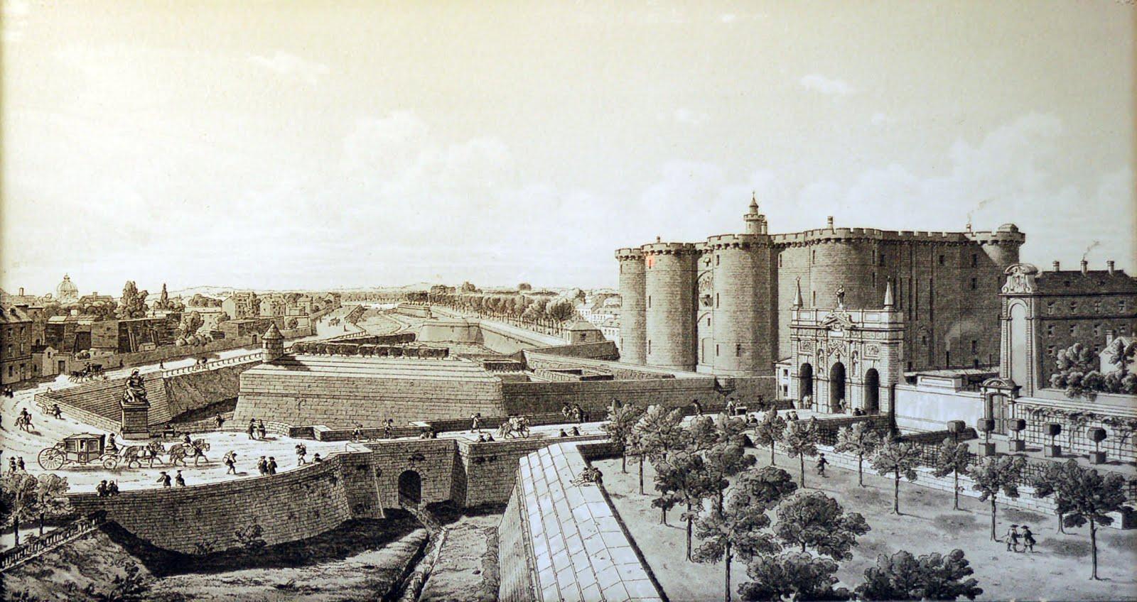 Bastiljen paris karta