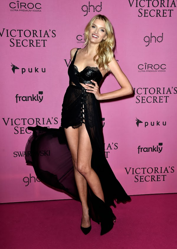 Lily Donaldson la petrecera Victoria Secret