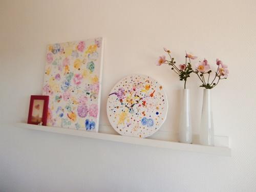 Bilder DIY Wallart Wandschmuck Farbe Blumen bunt