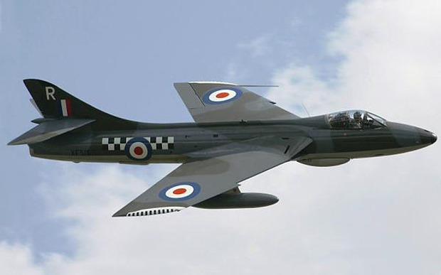 Um jato Hawker Hunter semelhante ao que caiu no Shoreham Air Show