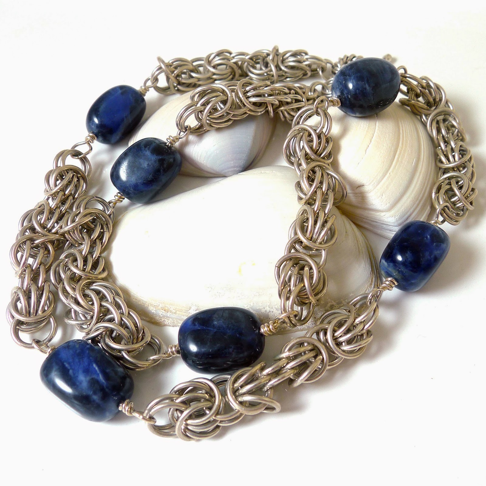 http://www.shazzabethcreations.co.nz/#!product/prd1/2204506475/trizantine-blues-st.-silver-chainmaille-necklace