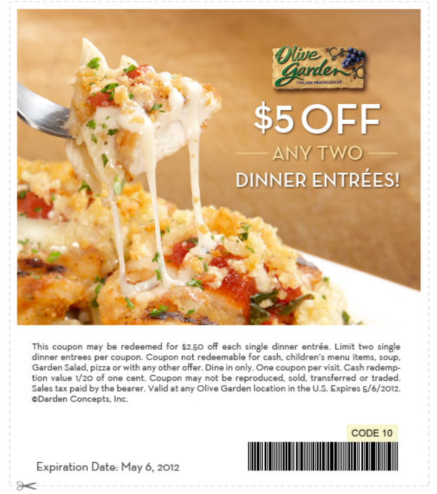 Barbara 39 S Beat Get A 5 Off Coupon For Olive Garden