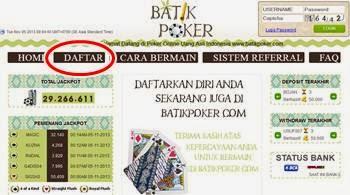 Cara Daftar Batik Poker