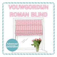 Tutorial roman blind flowerhat design
