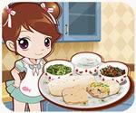 Bánh cuộn thịt gà, chơi game nấu ăn online