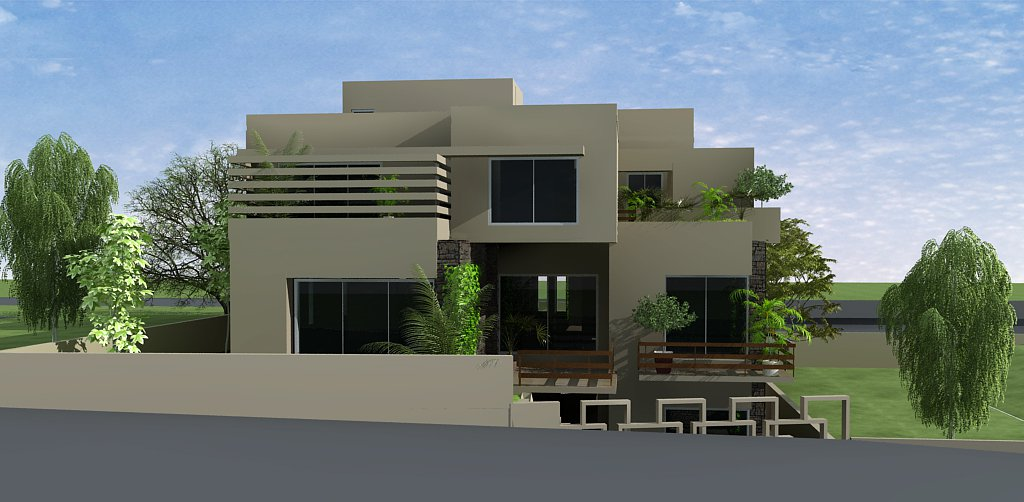3d Front Elevation 5 Marla Front Elevation Plan 2