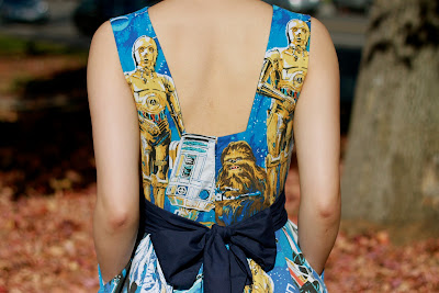 C3PO lined up on both shoulder straps!