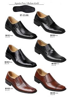 sepatu pantofel pria kulita warna coklat dan hitam