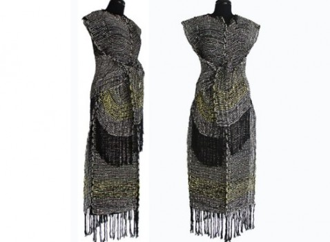 Knitted Clothing Using Recycled Newspaper Yarn