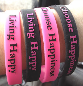 Living Happy Imprinted Embossed Bracelets