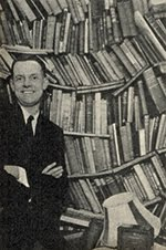 Dennis Uttley in his library