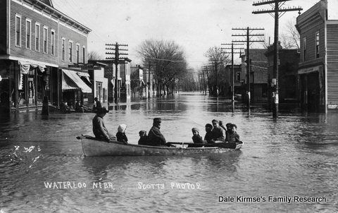 Waterloo, Nebraska - Flooding - 1912