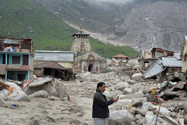 Kedarnath Temple after the Flood