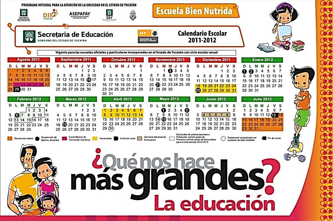 Educación y Tecnología: Calendario Escolar 2011 - 2012