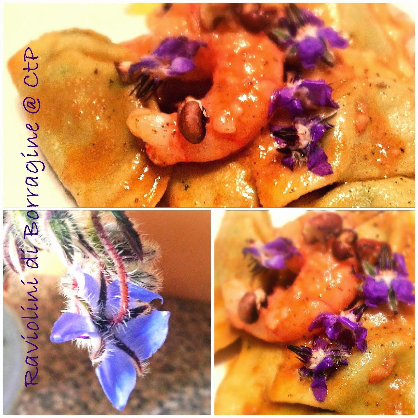 ravioli borragine gamberi rossi e fagiolina del trasimento oresidio slowfood