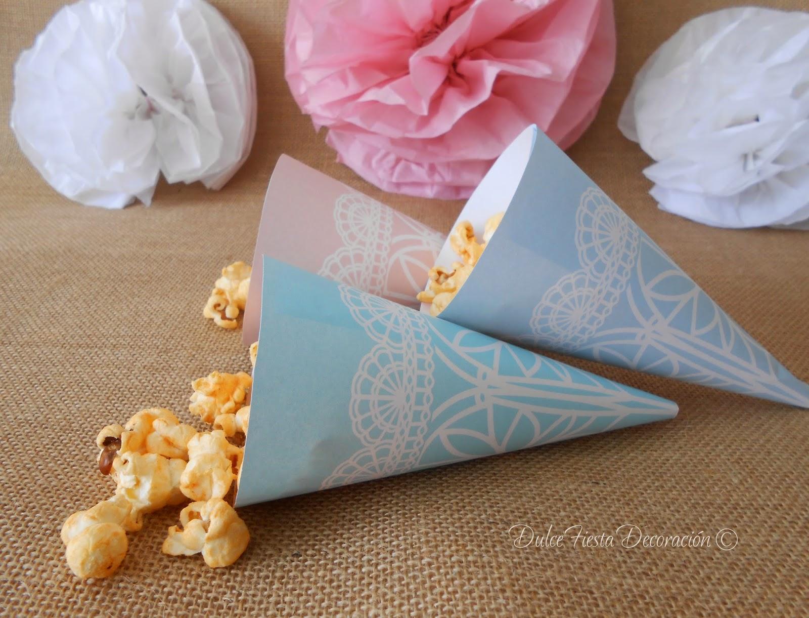 Conos de papel imprimibles para el confetti de tu boda - Manualidades para una boda ...